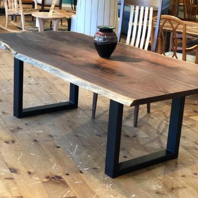 industrial live edge hardwood dining furniture