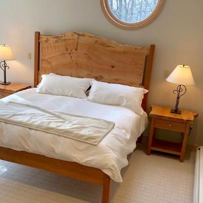 live edge hardwood furniture bed frame